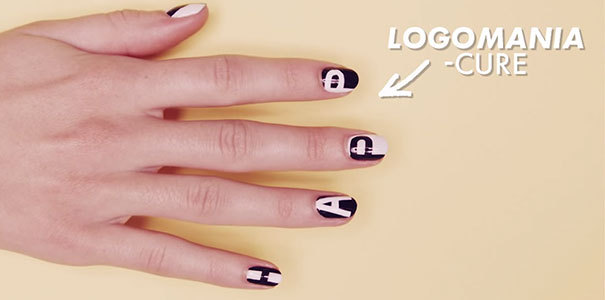 Easy & fun letter nail art